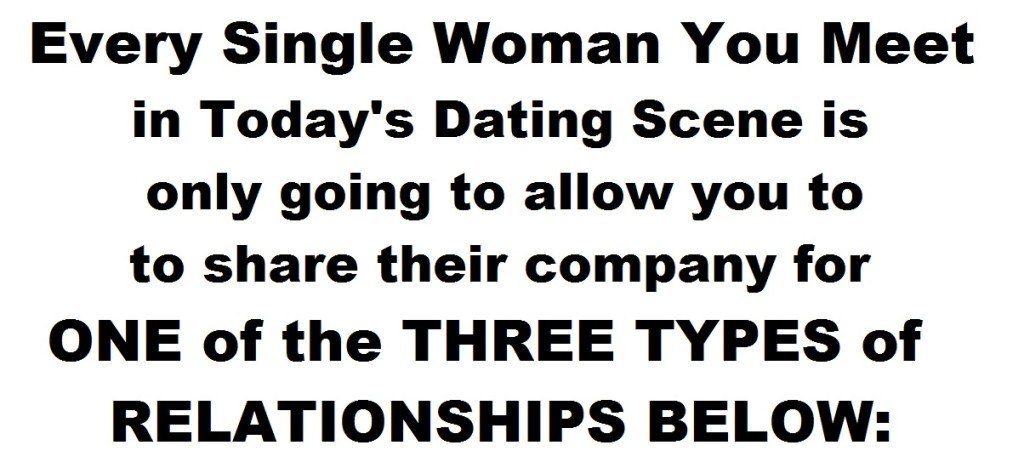 3TYPESofRELATIONSHIPS